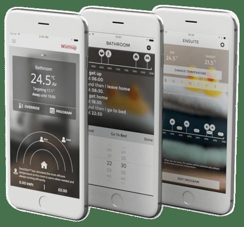 cost saving with warmup floor heating app